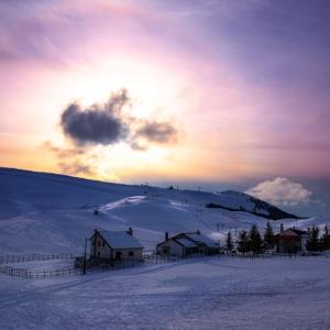 neve e tramonto
